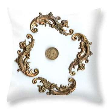 British Shilling Original Color  Throw Pillow by Joseph Baril