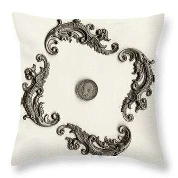 British Shilling Wall Art Version 1 Throw Pillow by Joseph Baril