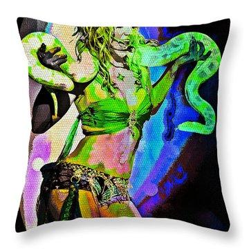 Britney Neon Dancer Throw Pillow
