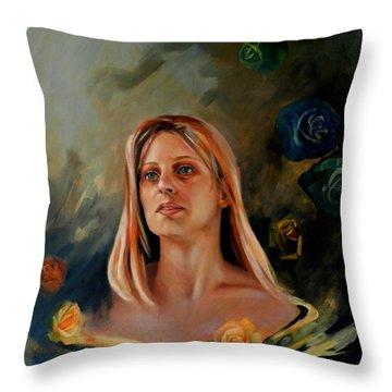 Britt Throw Pillow by Jolante Hesse