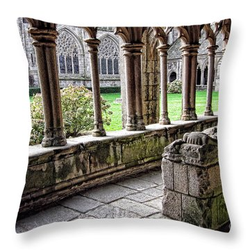 Brittany Cloister  Throw Pillow by Olivier Le Queinec