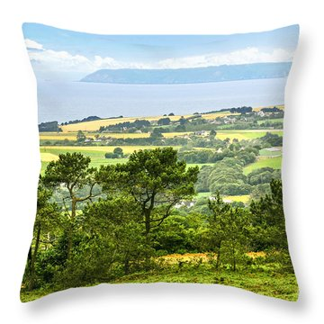 Brittany Landscape With Ocean View Throw Pillow by Elena Elisseeva