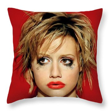 Brittany Murphy Tribute Throw Pillow