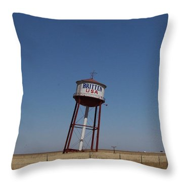 Britten Usa Throw Pillow