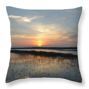 Throw Pillow featuring the photograph Broad Creek Sunset II by Carol  Bradley