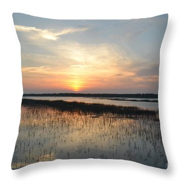 Throw Pillow featuring the photograph Broad Creek Sunset IIi by Carol  Bradley
