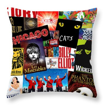 Broadway 1 Throw Pillow