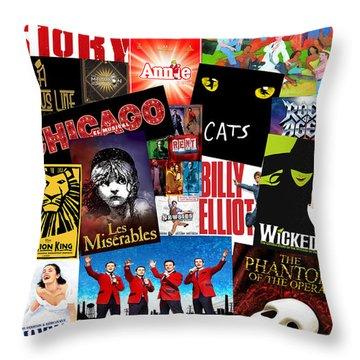 Broadway 1 Throw Pillow