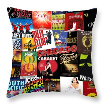 Broadway 4 Throw Pillow