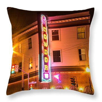 Throw Pillow featuring the photograph Broadway At Night by Suzanne Luft