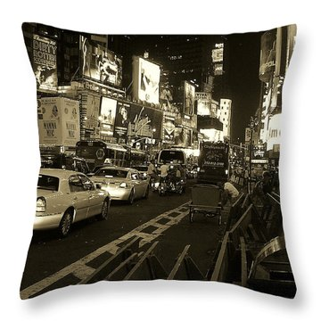 Broadway At W 45th Street Throw Pillow