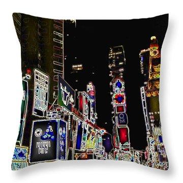 Broadway Throw Pillow by Joan  Minchak