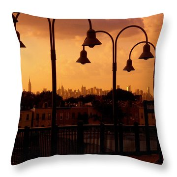 Broadway Junction In Brooklyn, New York Throw Pillow