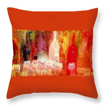 Broadway Wine Chorus  Throw Pillow by Lisa Kaiser