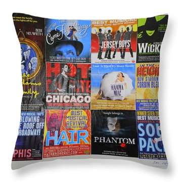 Broadway's Favorites Throw Pillow