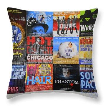 Broadway's Favorites Throw Pillow
