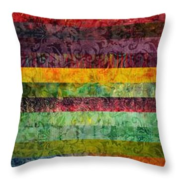 Brocade And Stripes Tower 2.0 Throw Pillow