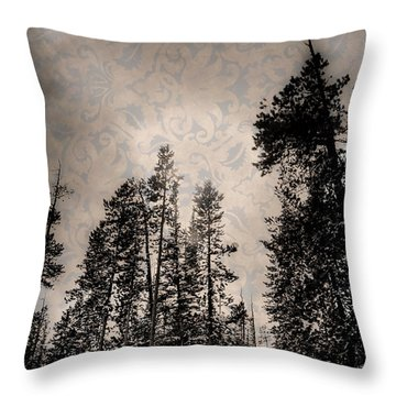 Brocade Sky Throw Pillow
