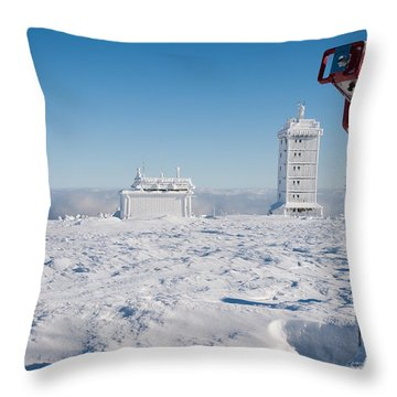 Brocken In Winter Throw Pillow by Andreas Levi