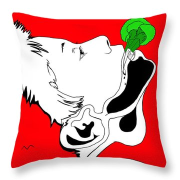 Brocolas Throw Pillow