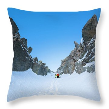 Brody Leven Climbing Wasatch Mountains Throw Pillow