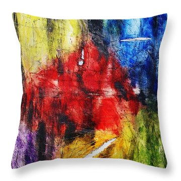 Throw Pillow featuring the painting Broken 4 by Michael Cross