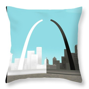 Broken Arch. A Scene From St. Louis Throw Pillow