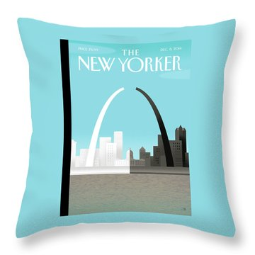 Broken Arch. A Scene From St. Louis Throw Pillow