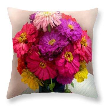 Broken Blooms Throw Pillow