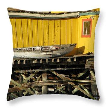 Broken Boat Fisherman's Wharf Throw Pillow
