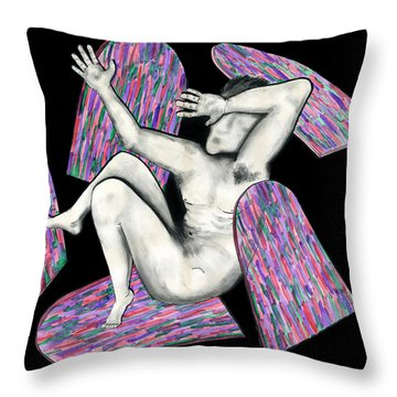 Broken By Stain Glass Throw Pillow by Laura Brightwood