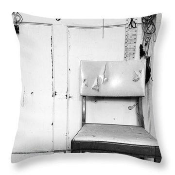 Broken Chair Throw Pillow by Carsten Reisinger