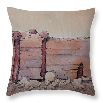 Broken Dock Seward Alaska Throw Pillow