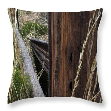 Broken Fence Line Throw Pillow