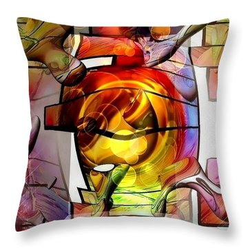 Broken Glass By Nico Bielow Throw Pillow