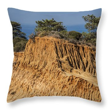 Broken Hill At Torrey Pines Throw Pillow