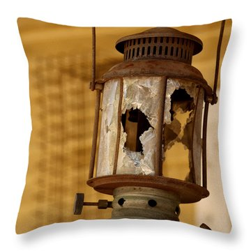 Broken Lantern Throw Pillow by Art Block Collections