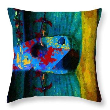 Broken Music Throw Pillow by RC deWinter
