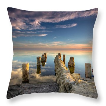 Broken Pier Throw Pillow