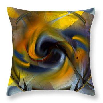 Broken Shield 2 - Abstract Throw Pillow