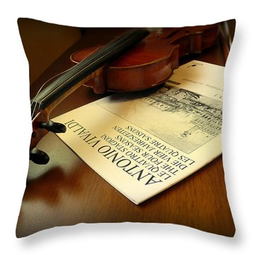 Throw Pillow featuring the photograph Broken String by Lucinda Walter