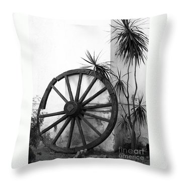 Broken Wheel Throw Pillow