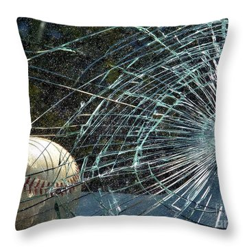Throw Pillow featuring the photograph Broken Window by Robyn King