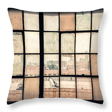 Broken Windows Throw Pillow