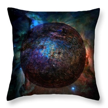 Broken World Throw Pillow