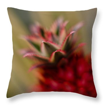Bromeliad Crown Throw Pillow by Mike Reid