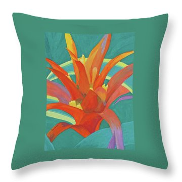 Bromeliad Glow Throw Pillow