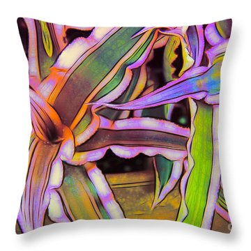 Bromeliads Throw Pillow