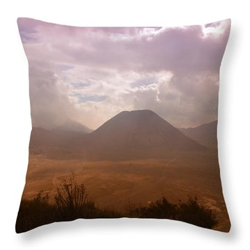 Bromo Throw Pillow by Miguel Winterpacht