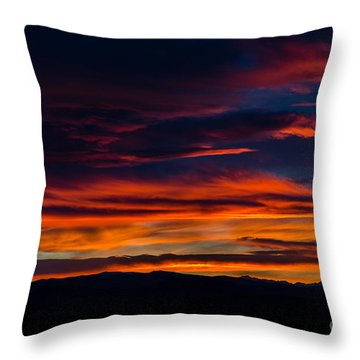 Bronco Sunset Throw Pillow